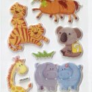 OK028e Animal Mini Puffy Sticker FREE SHIPPING