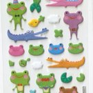 OK027b Animal Frog & Crog Mini Puffy Sticker FREE SHIPPING