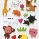 OK024f Animal Zebra Zoo Mini Puffy Sticker FREE SHIPPING