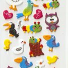 OK025a Bird Cute Mini Puffy Sticker FREE SHIPPING