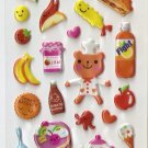 OK001A Chef Bear Mini Puffy Sticker FREE SHIPPING