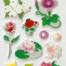 OK49d Assorted Flower Mini Puffy Sticker FREE SHIPPING