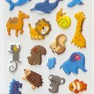 OK024b Fish & Animal Cute Mini Puffy Sticker FREE SHIPPING