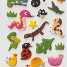 OK025b Snake Mini Puffy Sticker FREE SHIPPING