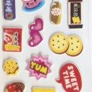 OK049d Donut Food Mini Puffy Sticker FREE SHIPPING