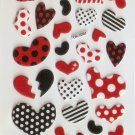 OK026d Heart Mini Puffy Sticker FREE SHIPPING