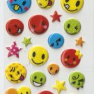 OK022b Smiley Mini Puffy Sticker FREE SHIPPING