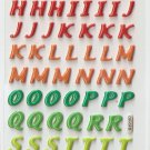 OK015f Letter Alphabet Mini Puffy Sticker FREE SHIPPING
