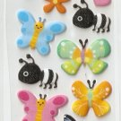 L002I Butterfly Bee Mini Puffy Sticker FREE SHIPPING