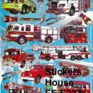 E227 Fire Engine Removable A4 Sticker