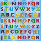 E104 Letter Alphabet Removable A4 Sticker