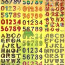 TM0011 Letter Alphabet Removable A4 Sticker