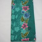 0012 Green Batik Sarong Daun Dewa Batik Sarong Floral Beach Cover-up Wrap Pareo