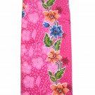 0012  Pink Batik Sarong Daun Dewa Batik Sarong Floral Beach Cover-up Wrap Pareo