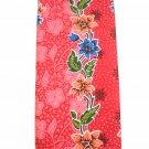 0012 Red Batik Sarong Daun Dewa Batik Sarong Floral Beach Cover-up Wrap Pareo