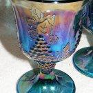 4 Carnival Indiana Glass Goblets - Harvest Grape Pattern