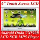 "Google Android Smart Onda VX590R 6"" Touch Screen LCD 1080P 8GB MP3 MP4 MP5 Player"