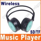 Digital Wireless Headphone FM SD/TF Stero Music  green