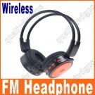 Digital Wireless Headphone FM SD/TF Stero Music  orange