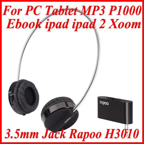 3.5mm Jack Rapoo H3010 Wireless Headphones For PC Tablet MP3 Ebook ipad ipad 2 Xoom P1000