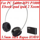 3.5mm Jack Rapoo H3010 Wireless Headphones For PC Tablet MP3 Ebook ipad ipad 2 Xoom P1000