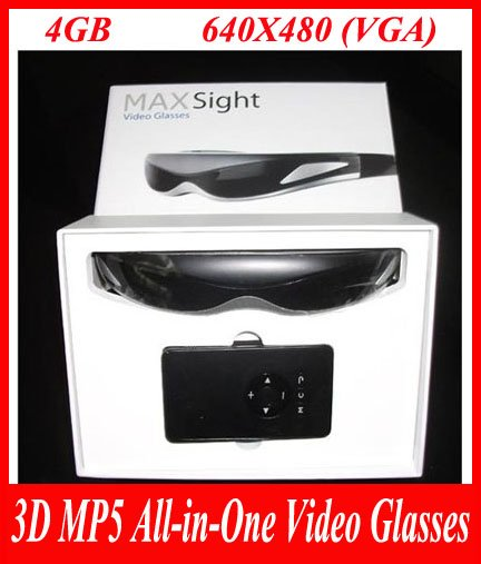 3D MP5 All-in-One Video Glasses iTheater MaxSight 4GB