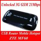 ZTE MF60 Unlocked 3G GSM 21Mbps USB Router Mobile Hotspot NEW