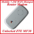 New Unlocked ZTE MF30 Mobile 7.2M WiFi Hotspot Router Modem