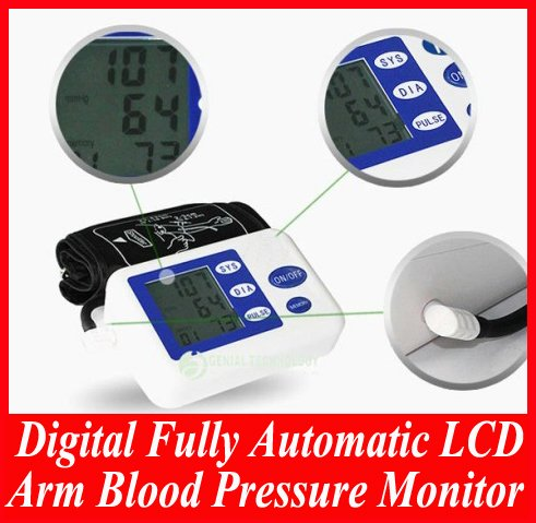 Digital Fully Automatic LCD Arm Blood Pressure Monitor