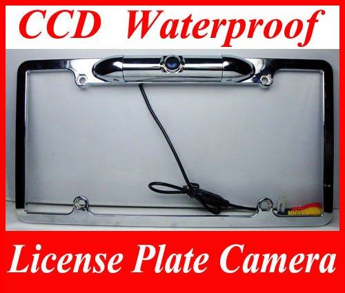 CE32CAM066CCD License Plate Camera Zinc Metal Chrome with 0.3 Lux at F2-Inch