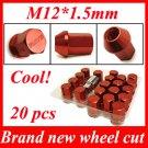 20pcs Racing Wheel Lug Nut Kit Sets 12 x 1.5 mm Screw Red