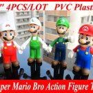 "4pcs /set 5"" Super Mario Bro Mario & Luigi Action Figure Toy"