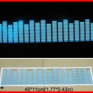 EA40STK451-BL Sound music Activated Car Stickers Equalizer Glow Blue Light  45*11CM