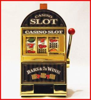 CH-GADG11 RecZone Casino Slot Machine Coin Bank /Jackpot Golden Slot Machine with Music/Voice