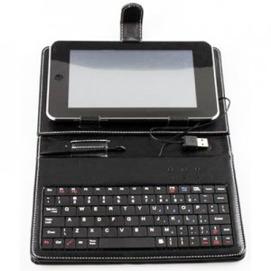 "AD-GCPD22-8C USB 2.0 8.9""Leather Housing Faceplate Case+Keyboard+USB For APad EPad MID"