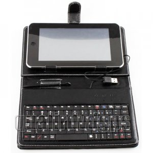 "AD-GCPD22-7C USB 2.0 Jack 7""Leather Housing Faceplate Case+Keyboard+USB For APad EPad MID"