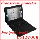 NW-PULC12 iPad2/iPad Black PU Leather Case with Bluetooth Keyboard + Free Screensaver