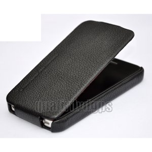 AD-KOKO04-BK New Perfect Genuine Leather Case For Apple iPhone 4 4S