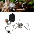 BO-TOOL22 Portable and Foldable Outdoor Camping Steel Stove with Carrying Case Great for Hiking