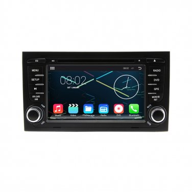 CE91ADI728 1024*600 Android 4.4.4 Autoradio GPS DVD Stereo Headunit For 2002-2008 Audi A4