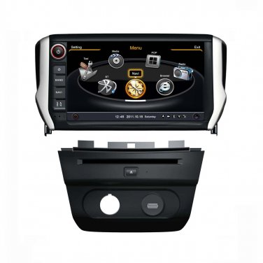 QL-PGT728 For 2014 Peugeot 2008 OEM Auto DVD GPS Navigation Stereo Radio Head-unit