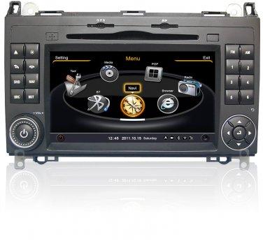 QL-BNZ778 Car Stereo GPS Navigation Radio for Mercedes Benz A B W169 W245 Viano Vito