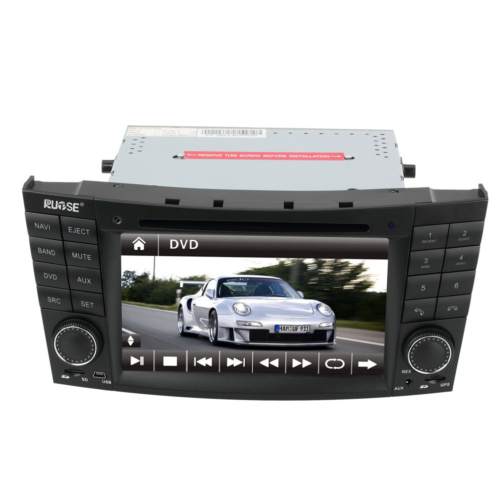 Ql bnz607 car gps navigation radio dvd stereo for mercedes for Mercedes benz navigation system