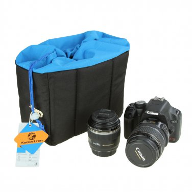 HE-XJND44-BL Shockproof Padded Foldable Camera Bag Insert Protective Case for SONY Canon Fuji