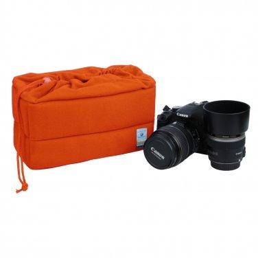 HE-XJND15-OR Shockproof DSLR SLR Camera Bag Partition Padded Insert Protection Case Blue New