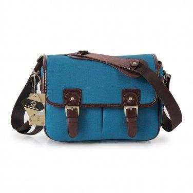 AS-WFPU85-BL Koolertron PU Leather DSLR Camera Bag Messenger Shoulder Bag for Canon Nikon