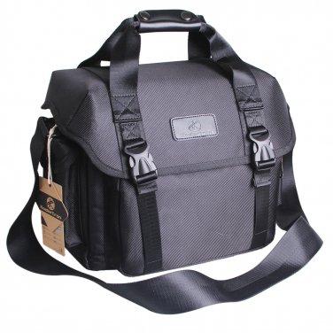 AS-KLFB02-BK Koolertron Nylon SLR DSLR Camera Bag Messenger Shoulder Bag for Canon Nikon Sony