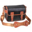 AS-WFPU80-BK Koolertron Waterproof Vintage PU Leather Messenger &Shoulder Bag+Camera Insert