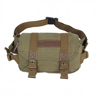 AS-KSFB12-GN Courser Canvas Vintage Waist Pack DSLR SLR Camera Bag For Sony Nikon D600 Canon