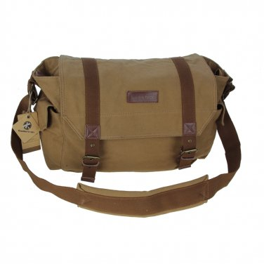 AS-KSFB38-YE Vintage Canvas DSLR SLR Large Camera Bag Messenger Bag For Nikon D600 Canon
